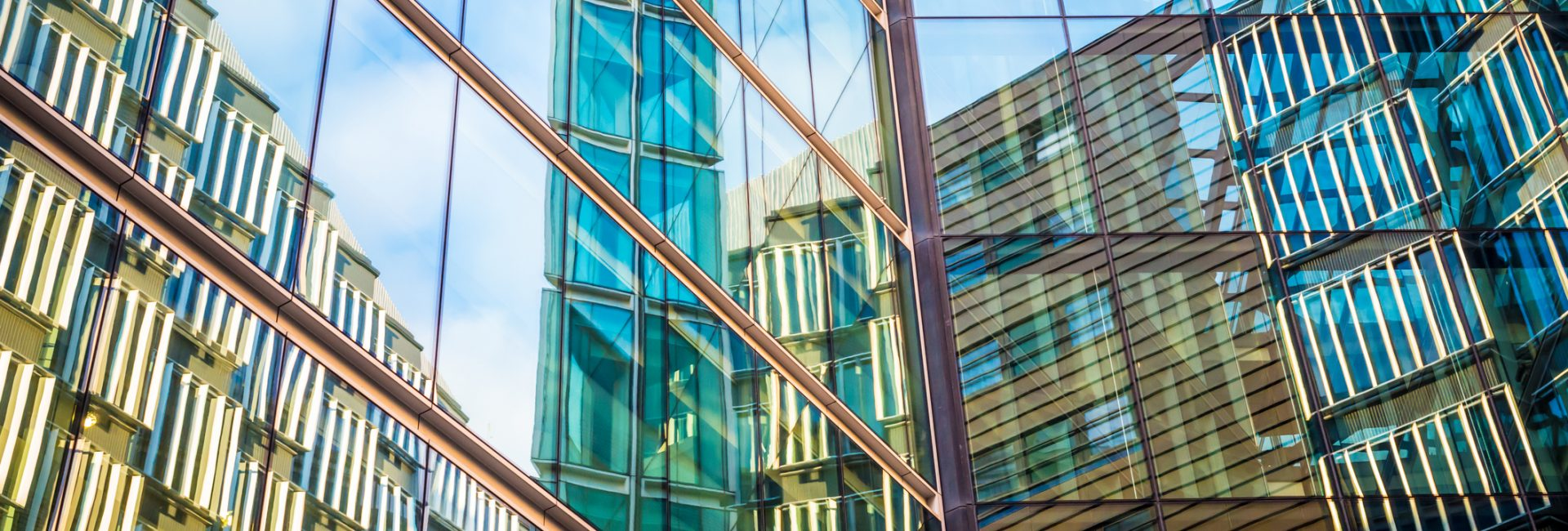 Modern Office Buildings, London.